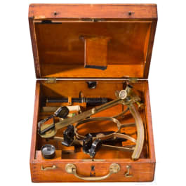 An optical navigation instrument (sextant), Germany, 1890