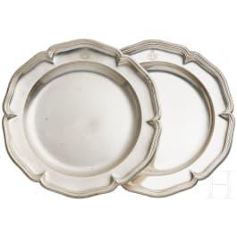 Ferdinand Graf von Zeppelin - two silver plates