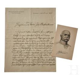 A letter from Graf Zeppelin proposing annexation of Belgium and Northern France