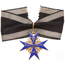 A Prussian Order Pour le Mérite, 1914 - 1916