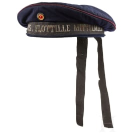 "A cap for sailors of the Imperial Navy in the ""Submarine Flotilla Mediterranean Sea"""