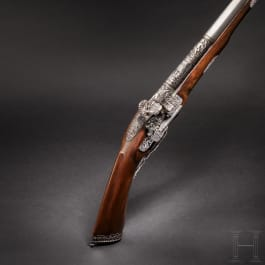 A luxurious Italian miquelet-rifle with chiselled decoration, Brescia, circa 1680