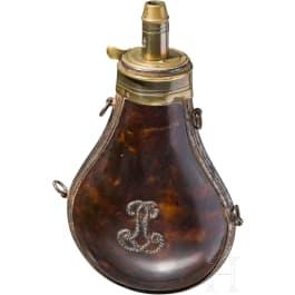 Pulverflasche aus Schildpatt, Frankreich, Ende 18. Jhdt.
