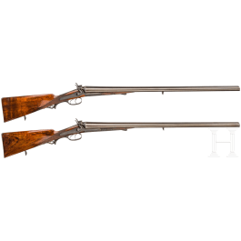 A pair of side-by-side shotguns by Anton Mulacz, Vienna