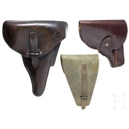 Drei Taschen für finnische Kurzwaffen