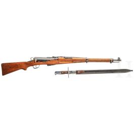 Infanteriegewehr M1911 mit Sägerückenbajonett M1914