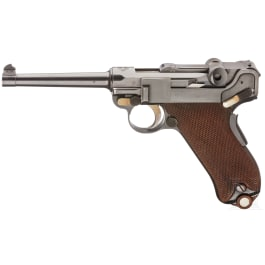 A Parabellum Mod. 1900, Swiss Service Pistol, 1st pattern without milling groove for magazine release button