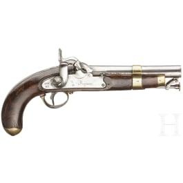 A percussion pistol M 1852, Cavalry and Guardia Civil, made 1858