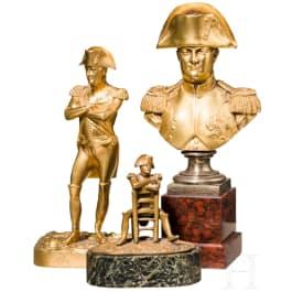 Napoleon I - three bronze figures, 19th/20th century