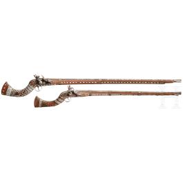 A rifle and shotgun, Afghanistan, circa 1900