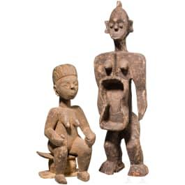 Zwei Figuren aus Holz, Afrika