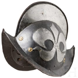 A blackened German Morion, late 16th century