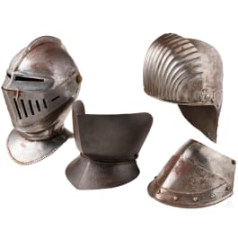 Two helmets in the style of the 15/16th century, historicisms