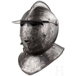 A German cuirassier's close helmet reproduction in 1620s style
