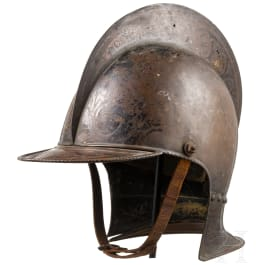 Two theatre helmets, 19th century