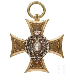 An Austrian Long Service Award III. Class for officers with enamelled revers