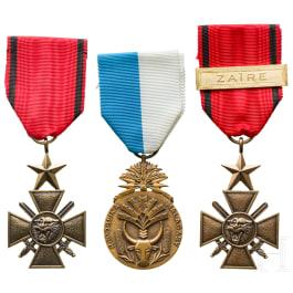 Three awards, Madagascar/Zaire