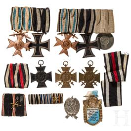 A group of Bavarian awards, World War I