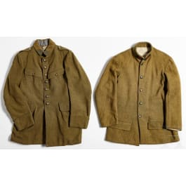 Two tunics for enlisted men of the colonial troops in World War I