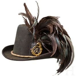 A Jaeger hat for officers of the k. u. k. foot troops