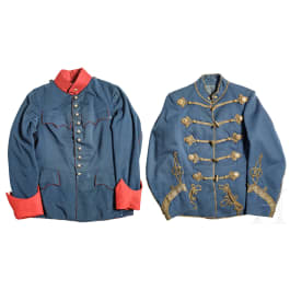 A tunic and an attila for officers, circa 1900