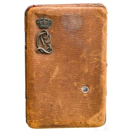 Archduke Karl Ludwig of Austria (1833 - 1896) - brown leather case for photos