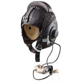A pilot flight helmet, dated 1984