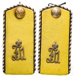 A pair of shoulder boards for the 12th Belgorodsky Uhlan Regiment