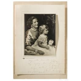 Belgium - Mary Lilian Baels, Princess of Réthy, an autograph from 1954