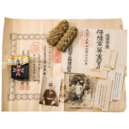 Grouping of an Imperial Japanese medic captain, WW II period