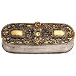 A silver wedding box, Austria/Hungary, 17th/18th century