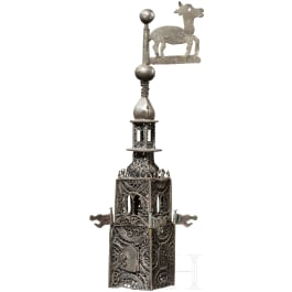 A silver tower of a besamin box, German, 1st half of the 19th century