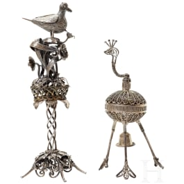 Two silver table decorations, China, circa 1900