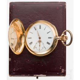 A cased German 14 ct golden pocket watch, circa 1900
