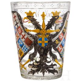 A large German heraldic glass, 18th/19th century