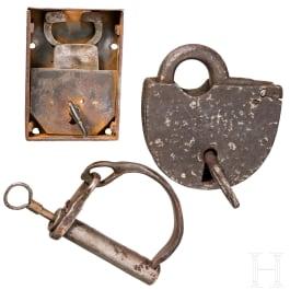 A group of German locks, 18th/19th century