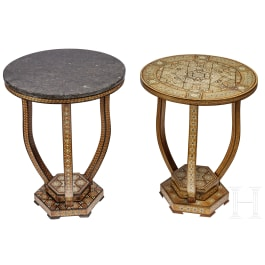 A set of two elegant North African side tables, 19th century