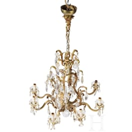 An Italian crystal chandelier, 1st half of the 20th century