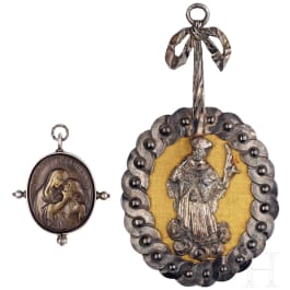Two religious pendants, German, 17th/18th century