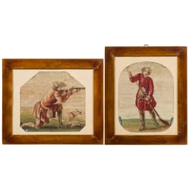 Two French hunting scenes, 18th century