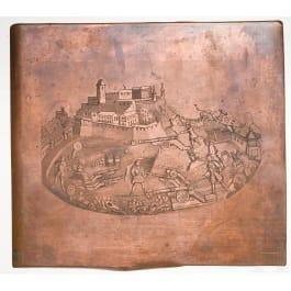A German copper printing plate, circa 1700