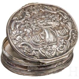 An Ottoman silver box, 19th century