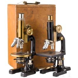 Two microscopes, Reichert, Vienna, 20th century