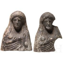 Two Greek Votive protomes, 5th century B.C.