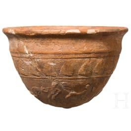 A Greek-Hellenistic Megarian beaker, 2nd - 1st century B.C.
