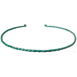 A twisted South German collar, early Bronze Age, 12th - 11th century B.C.