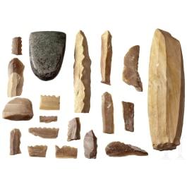 Sammlung Steinzeitwerkzeug, Mittel- und Nordeuropa, 5. - 3. Jtsd. v. Chr.
