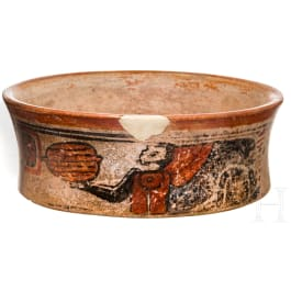 A Maya bowl decorated with spider monkeys, Guatemala, late classical period, 600 - 900 A.D.