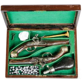 A pair of flintlock pistols by L. Zugno, Brescia/Italy, circa 1730