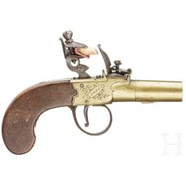 A British flintlock pocket pistol, Sharpe (London), circa 1800